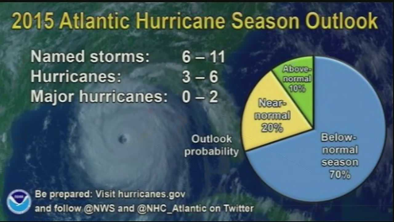 The National Oceanic and Atmospheric Administration announced its forecast for the Atlantic hurricane season.