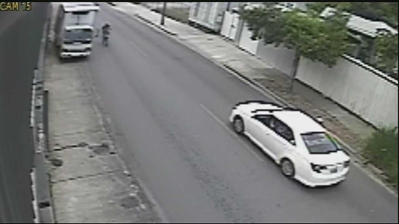 The incident happened on Chartres St. as victim was riding bike