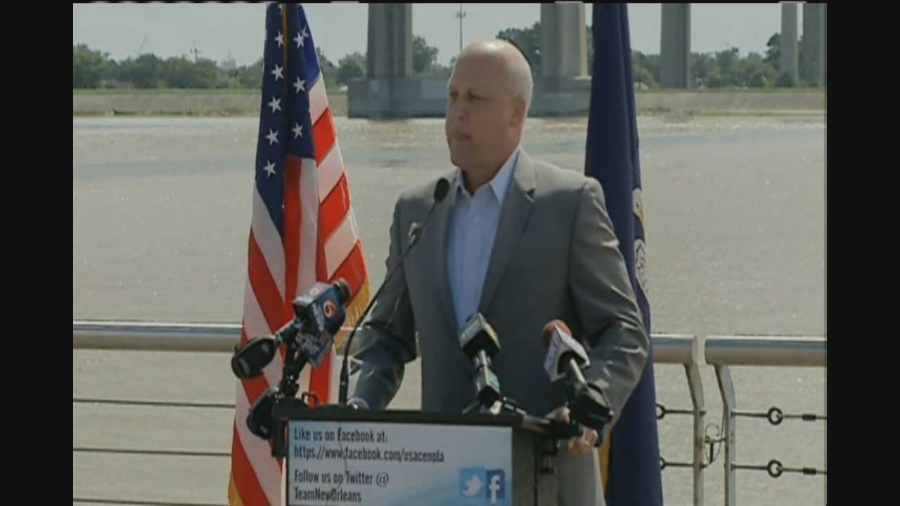 Mayor Mitch Landrieu was joined by local, state and federal leaders to discuss the Greater New Orleans Hurricane and Storm Damage Risk Reduction System.