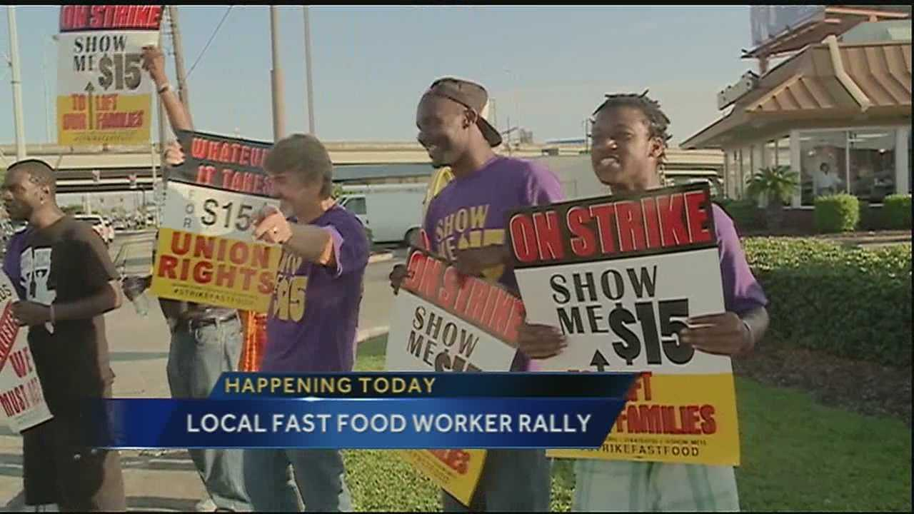 Local fast food workers will gather outside McDonald's in central city on Friday morning. It's a demonstration fighting for fair pay or a livable wage for cooks and cashiers at area fast food restaurants.