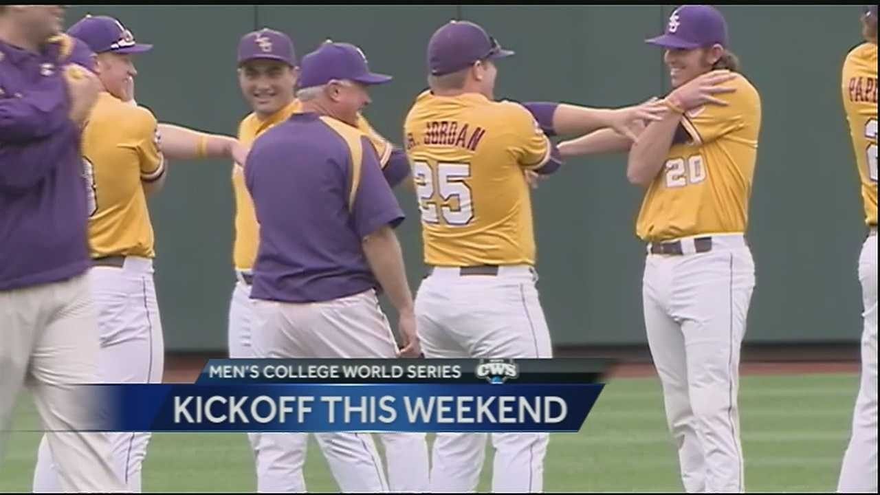 The men's College World Series kicks off in Nebraska this weekend and the LSU Tigers are getting ready for their matchup against TCU on Sunday.