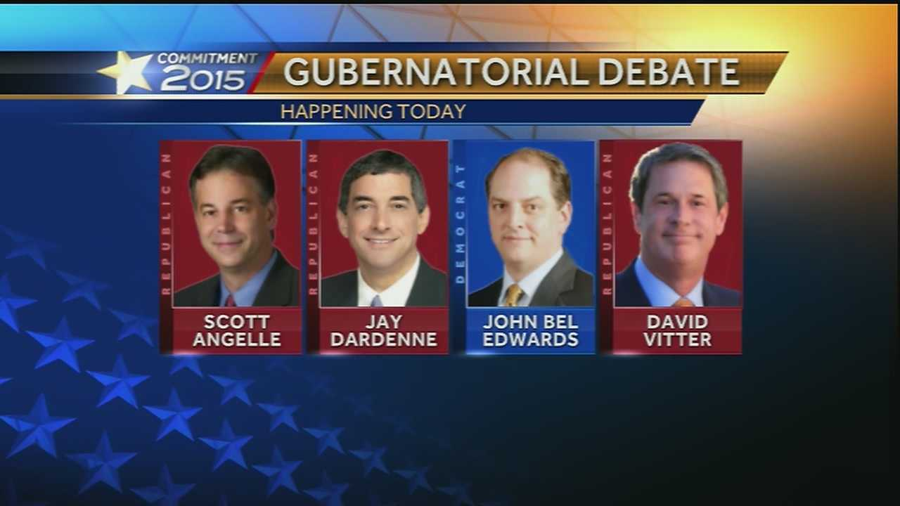 The candidates running for governor of Louisiana will square off in a debate on Tuesday at the Alario Center on the Westbank.