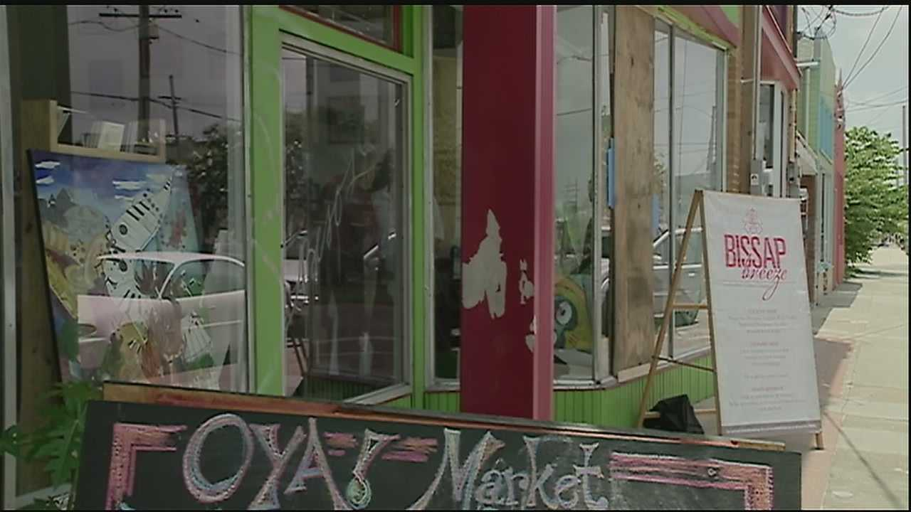 A new store in the St. Roch Market area just opened its doors last weekend and it's already had to board up a window.