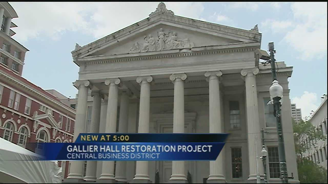 An iconic building in Downtown New Orleans is getting a multimillion dollar facelift. In August of last year, Gallier Hall on St. Charles Avenue suffered some damage to the exterior when part of the building's cornice fell to the ground leading to repairs.