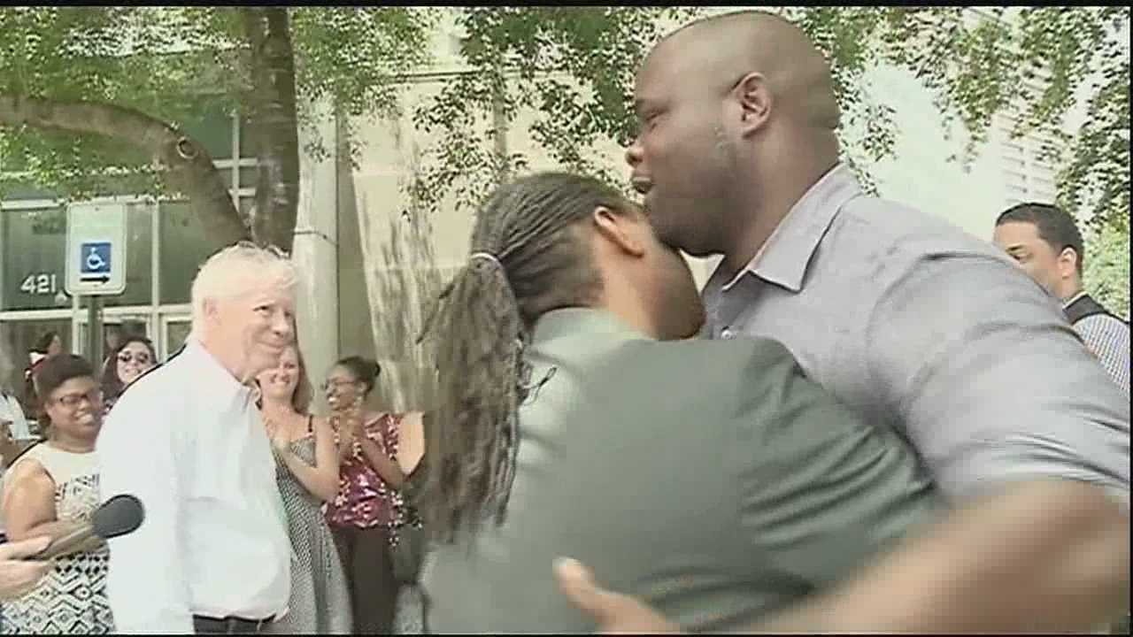 The first same-sex couple in Orleans Parish was wed on Monday after receiving their marriage license.