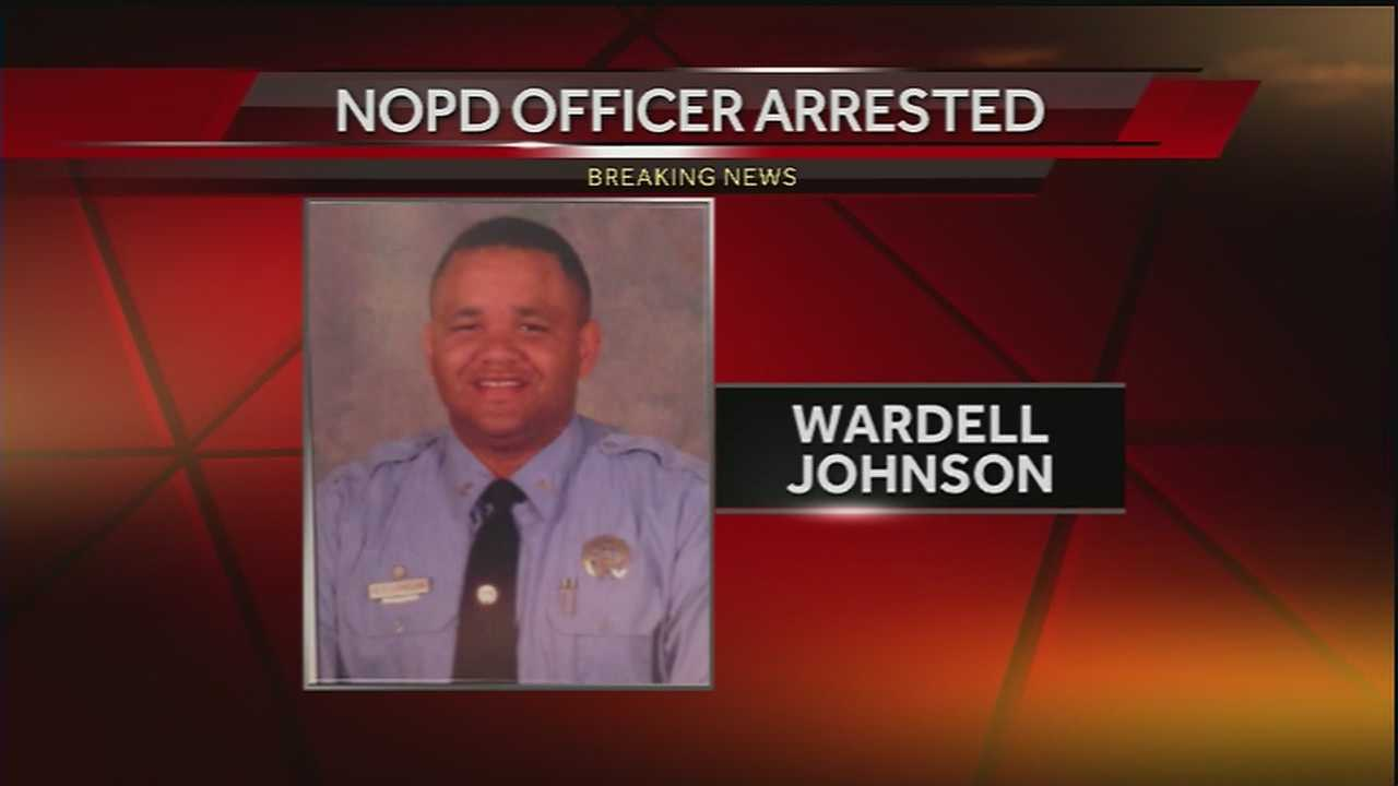 Officer Wardell Johnson was suspended Monday after being accused of withholding evidence in an assault case involving a man who later killed a New Orleans officer, police said.