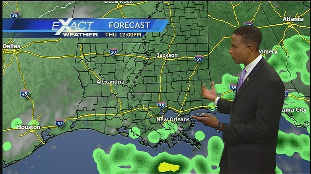 WDSU Exact Weather meteorologist Damon Singleton has your Tuesday Exactcast.