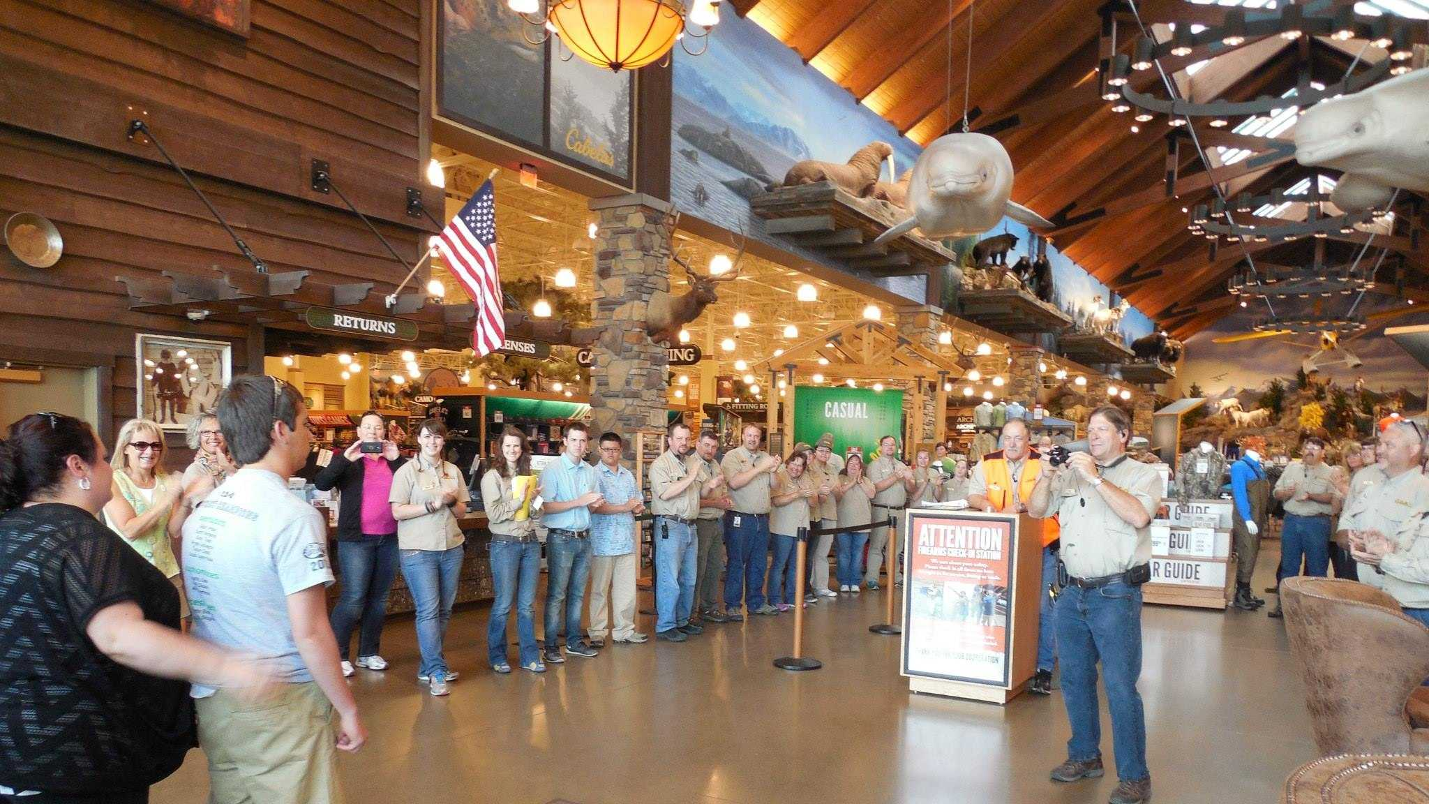 Taylor Cannel at Cabela's in Anchorage, Alaska.