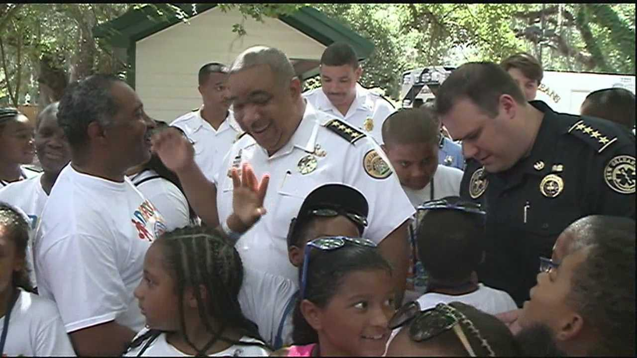 Nearly 3,000 New Orleans NORDC summer camp kids came out to City Park's Storyland for fun and first responders.