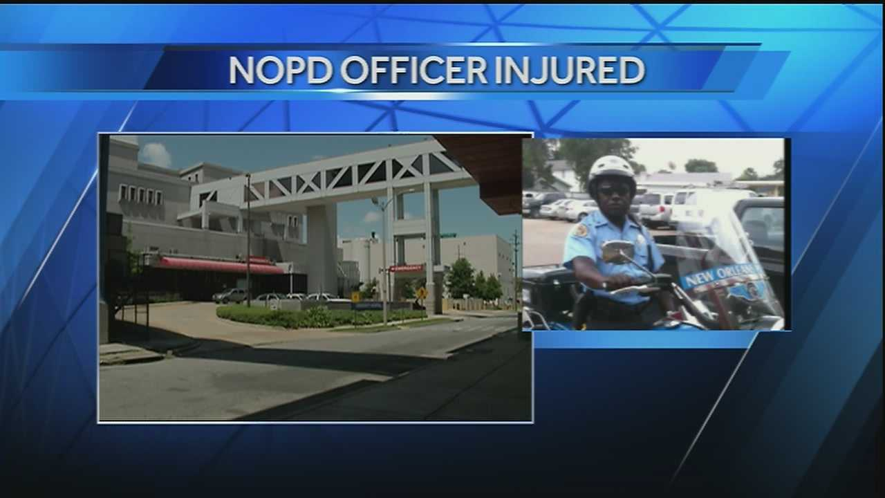 A New Orleans police officer was seriously injured Sunday morning in an accident near the Superdome.
