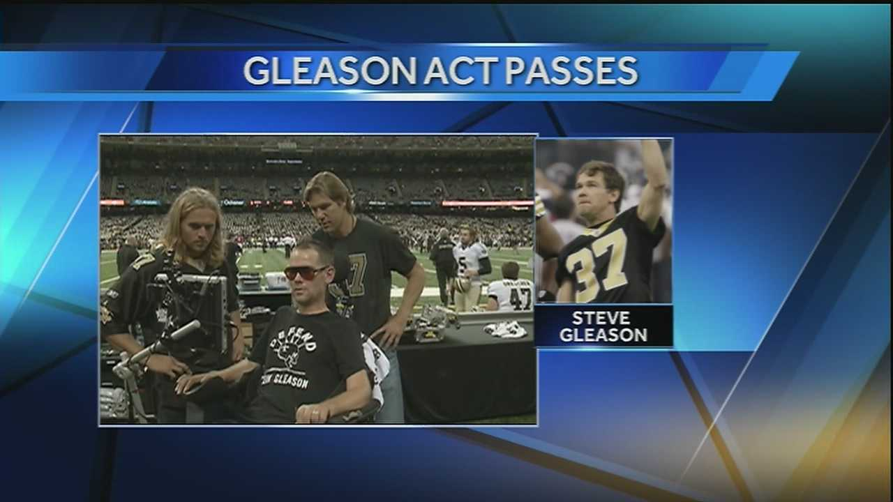 The Steve Gleason Act passed the House by voice vote and will now head to the president's desk.