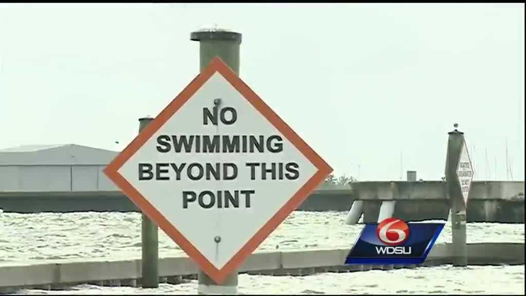 Sign at Lake Pontchartrain