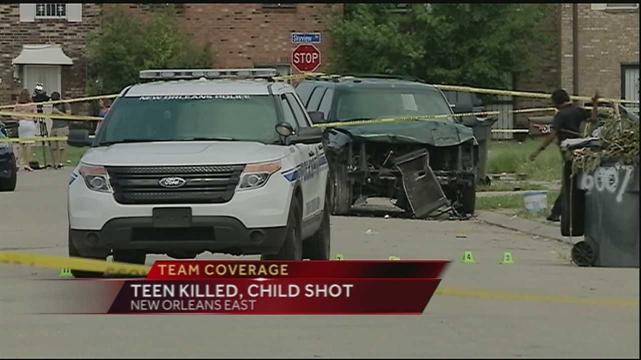 A double shooting left a teenager dead and his 4-year-old nephew in the hospital Tuesday afternoon in New Orleans East.