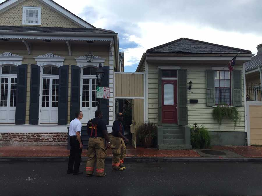 A house in the French Quarter is in danger of collapsing after the roof of the structure partially collapsed Wednesday.
