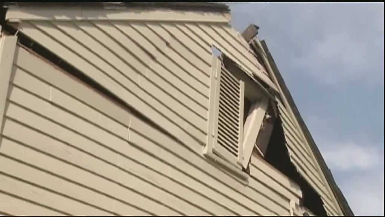 A home in the French Quarter is in danger of collapsing after it suffered a partial roof collapse Wednesday.