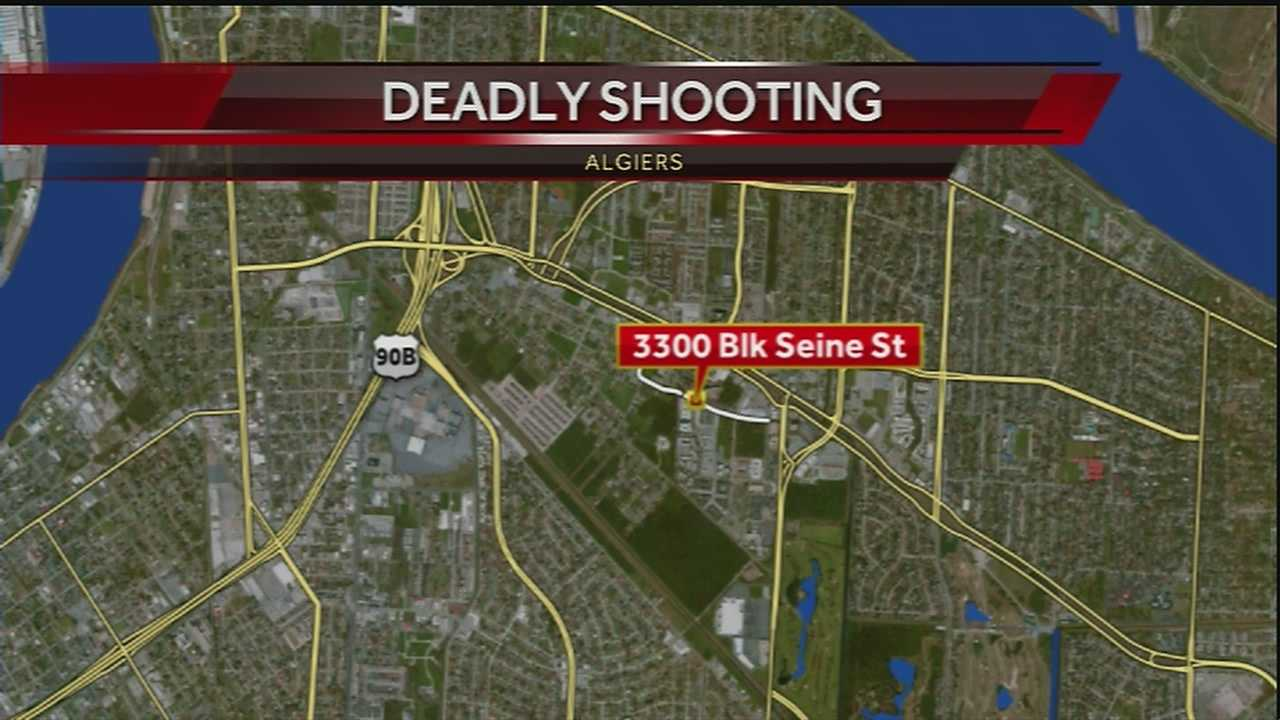 New Orleans police are investigating a deadly shooting in Algiers.