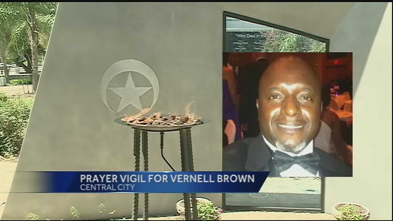 A prayer vigil is being held Thursday night for the family, friends and fellow officers of fallen Officer Vernell Brown.