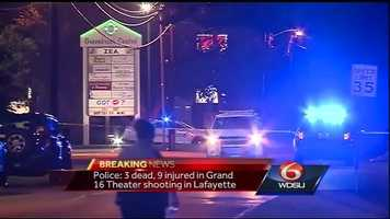 "About 100 people were in the theater for a showing of ""Trainwreck"" at the Grand Theater 16 when the incident occurred, according to authorities."