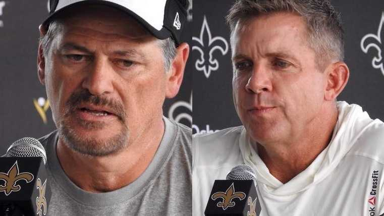 Saints General Manager Mickey Loomis (left) and Saints Head Coach Sean Payton (Right)