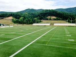 The fields at Greenbrier before the Saints practice.