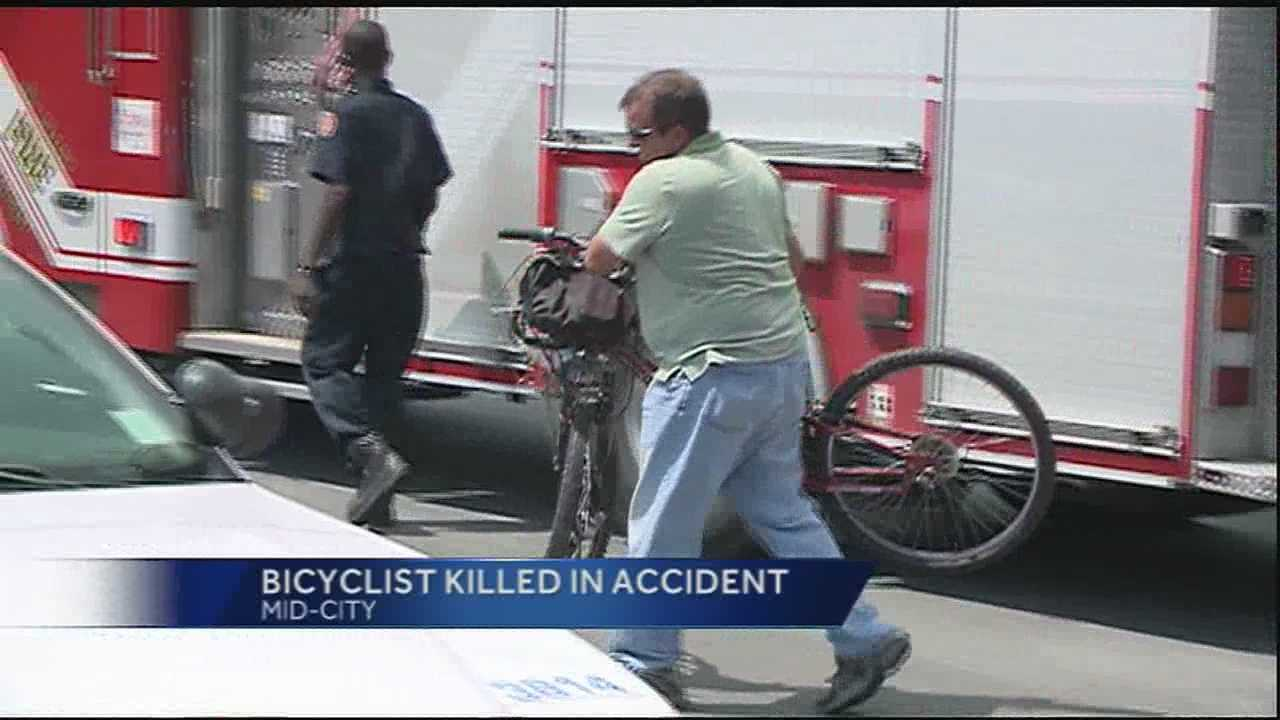 A bicyclist was struck and killed Monday afternoon, New Orleans police said.
