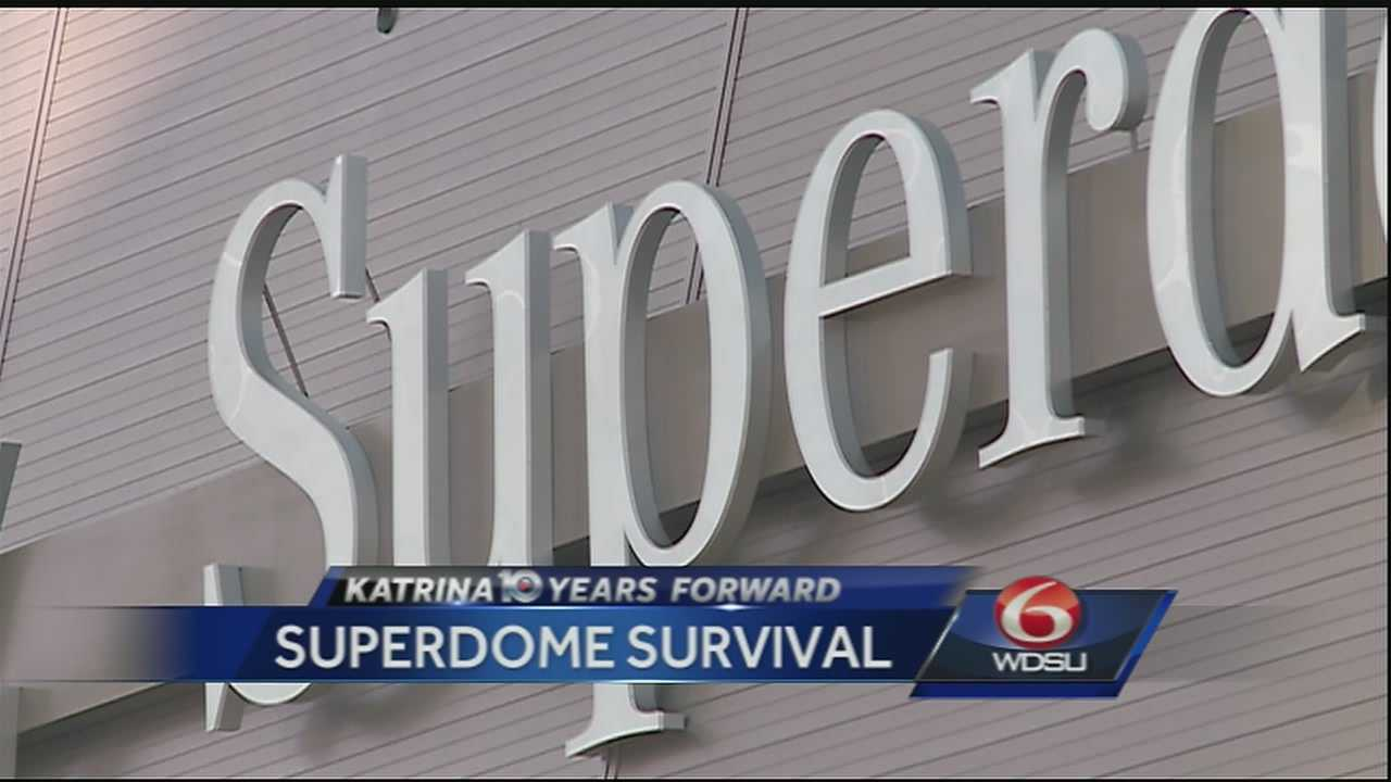 Ten years forward, one of the most iconic places remains the Superdome. It's a reminder that even when the scope of a storm is massive, survival can depend on just a couple of inches.