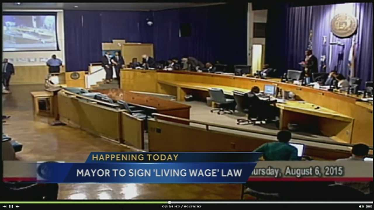 Earlier this month, the New Orleans City Council approved an ordinance requiring a minimum $10.55 an hour wage starting next year for anyone working for a company getting significant contracts or subsidies from the city.