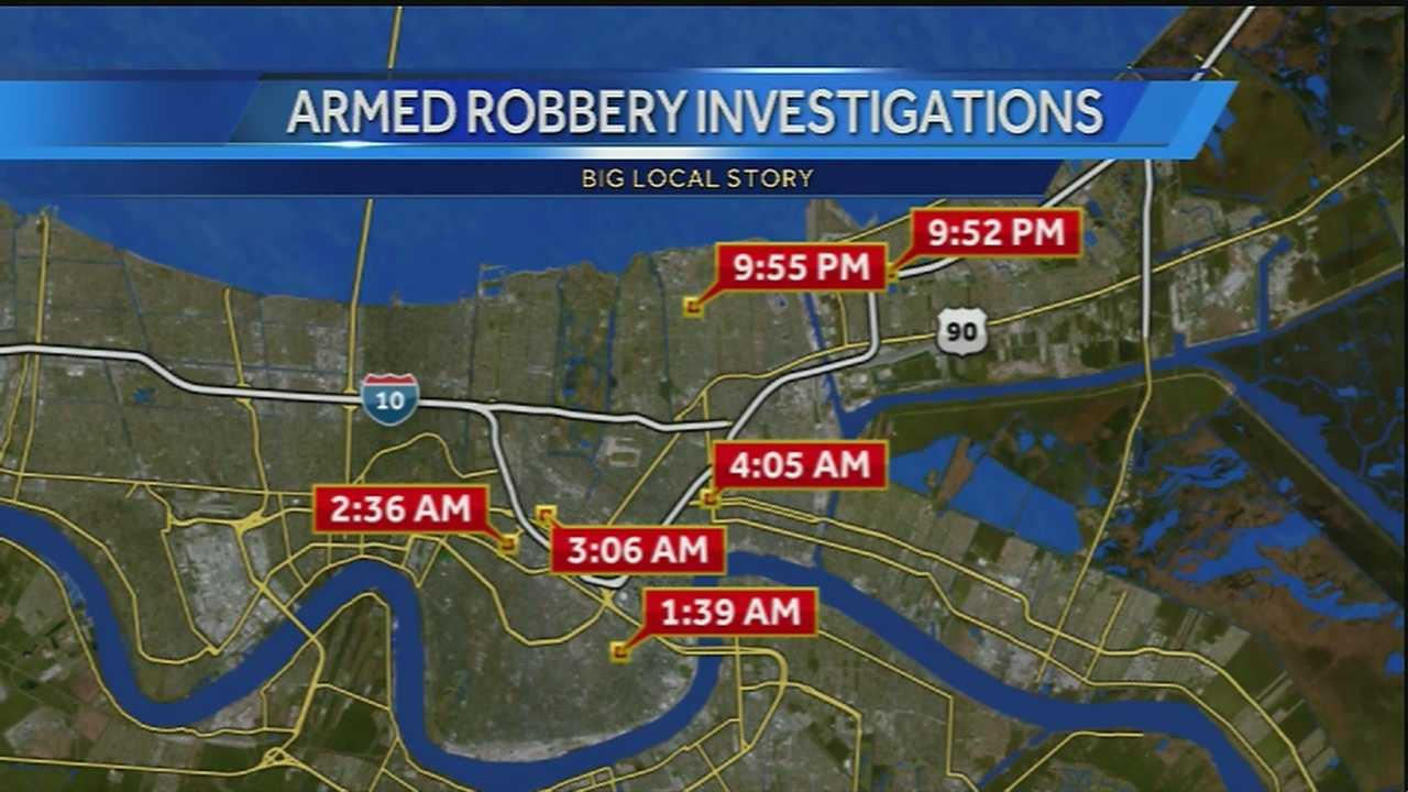 The New Orleans Police Department is working to solve several crimes that happened over the weekend from Uptown to Gentilly and New Orleans East.