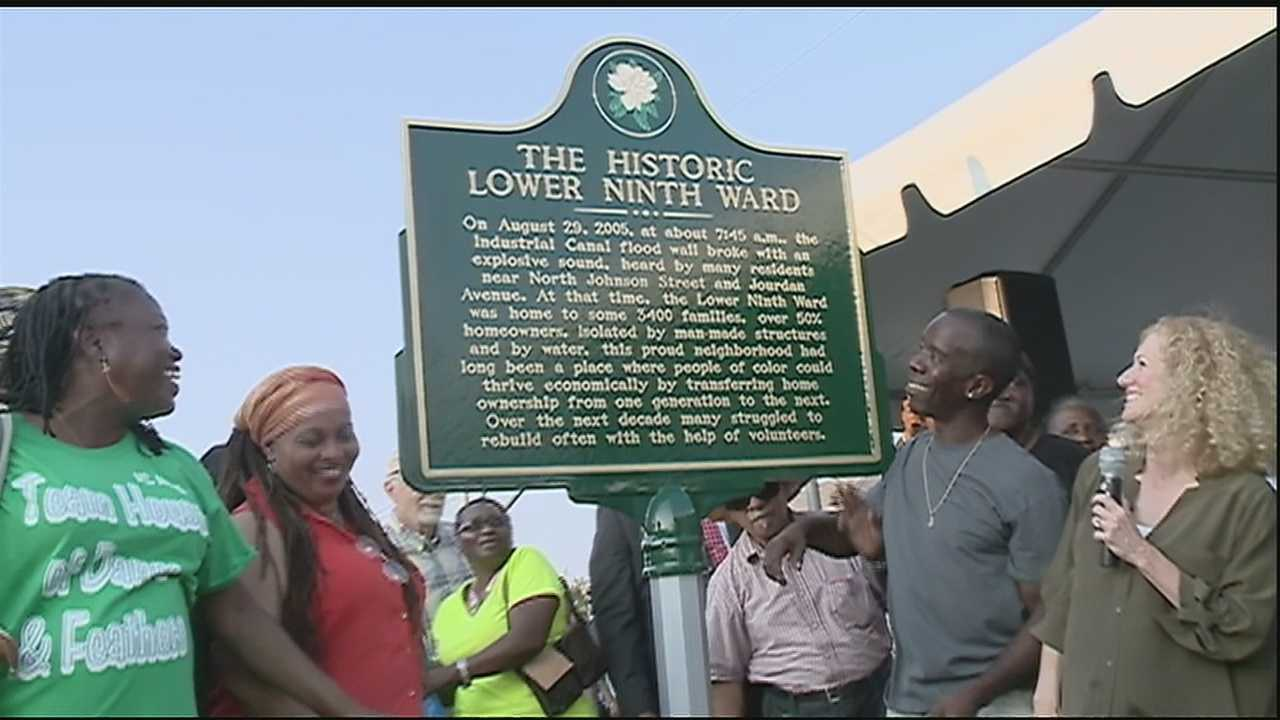 Plaque placed at site levees broke ten years ago