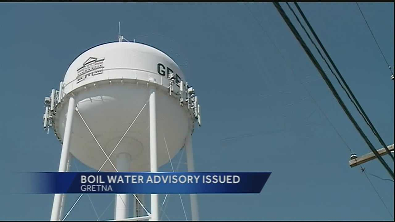 A boil-water advisory was issued Thursday for Gretna, officials said.