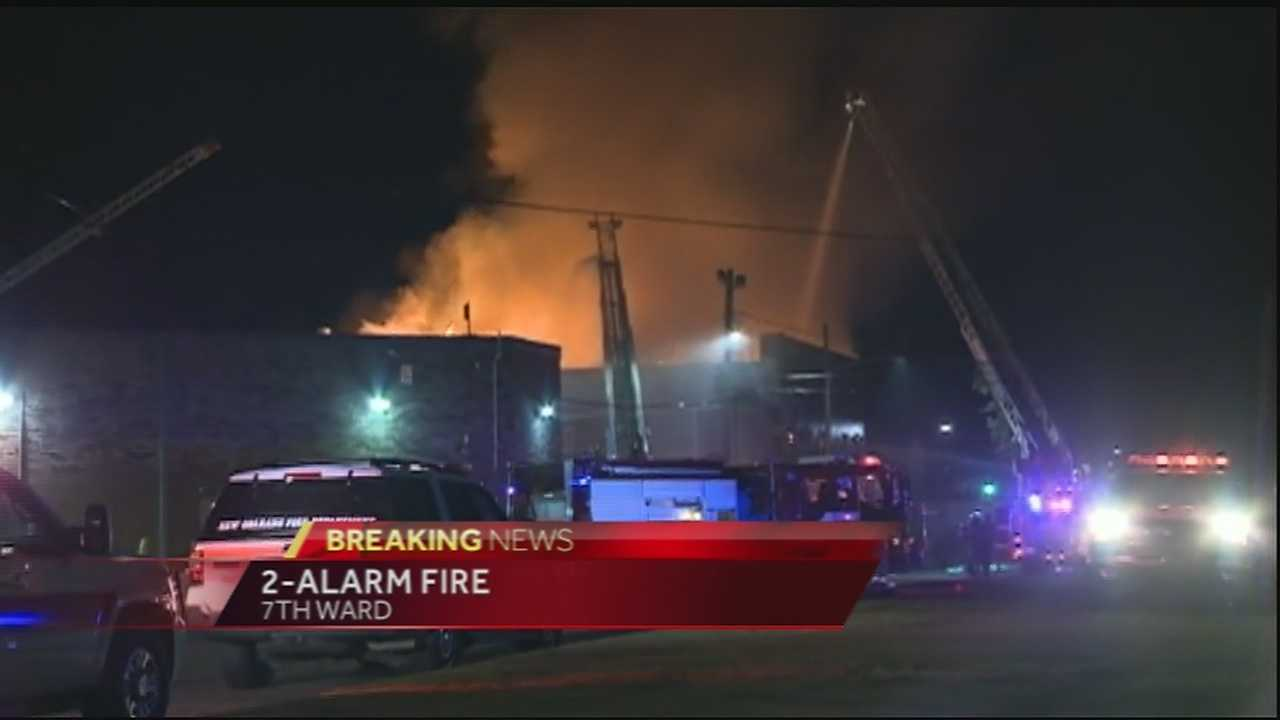 Fire officials say the fire started at 3:30 a.m. at Club Fusions.