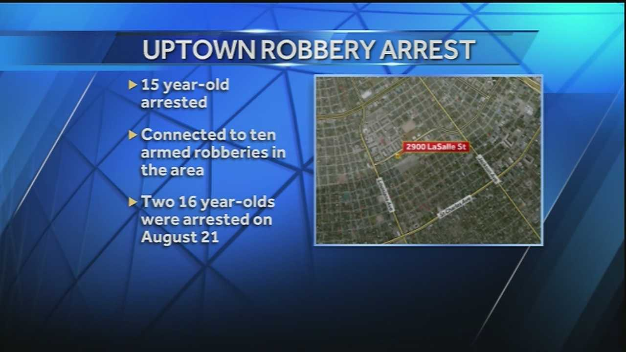 Three teenagers arrested in connection with several Uptown robberies, NOPD says
