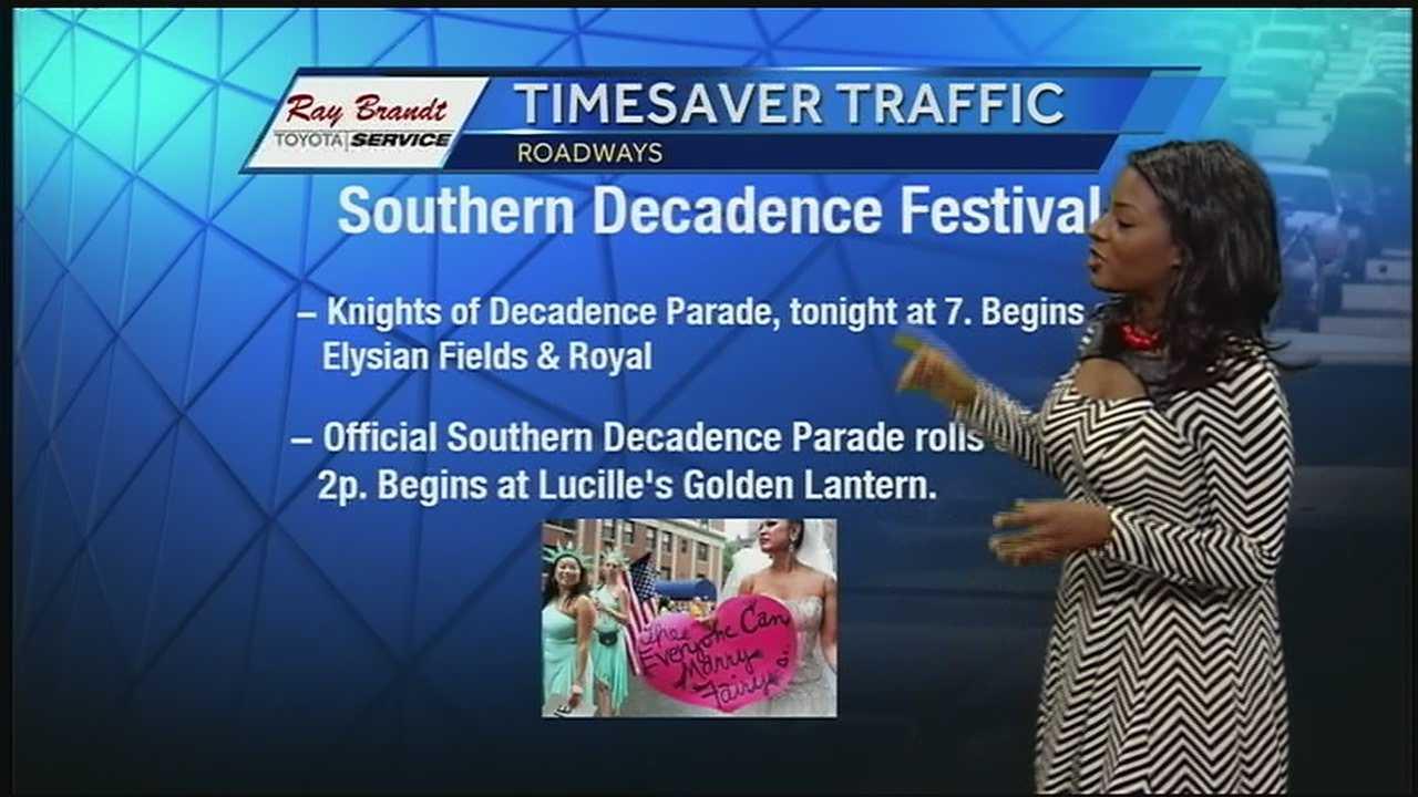 Traffic reporter Susan Isaacs gives you the information you need to know about road closures during Southern Decadence.