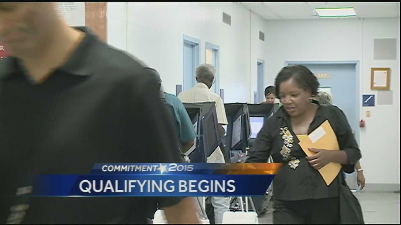 The qualifying period for the Oct. 24 primary election is open Tuesday through Thursday.