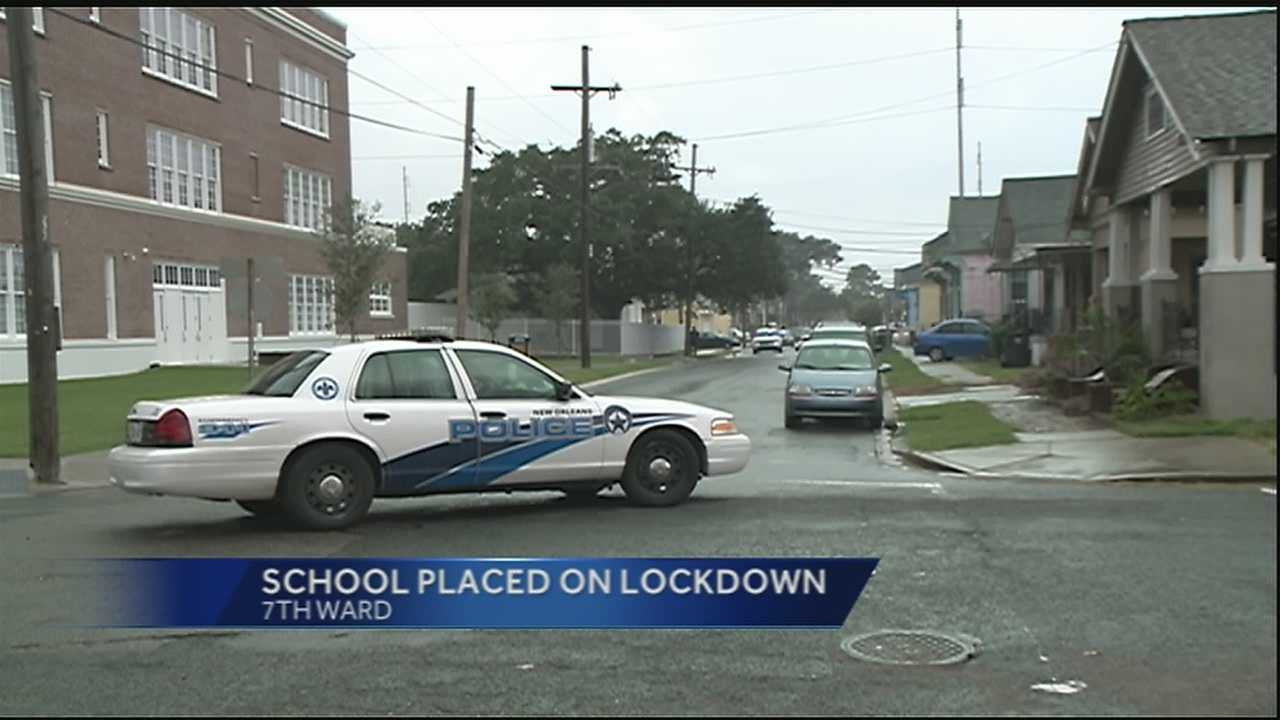 A lockdown at McDonogh 42 Elementary Charter School was lifted Wednesday after a police chase in the area.