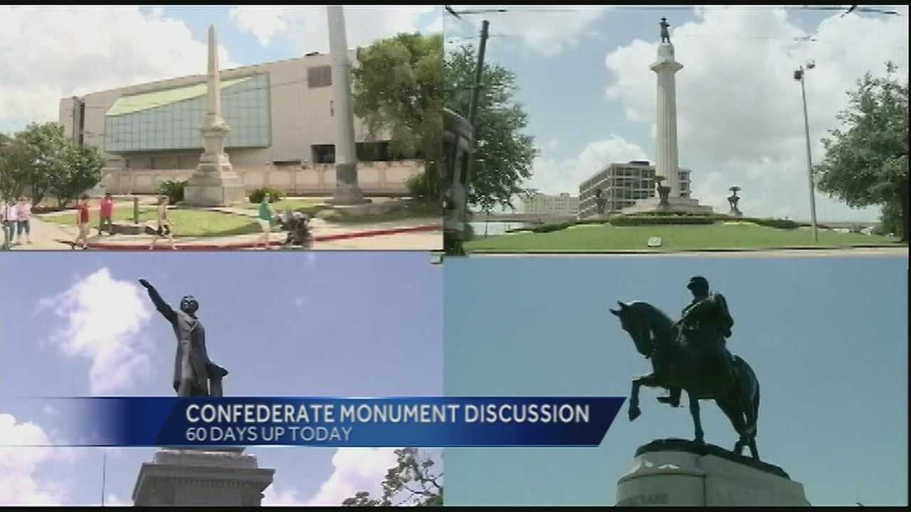 Sixty days have passed since New Orleans Mayor Mitch Landrieu declared a two-month-long period for discussion about the future of four Confederate monuments in the city -- clearing the way for a possible move to relocate the statues in the near future.