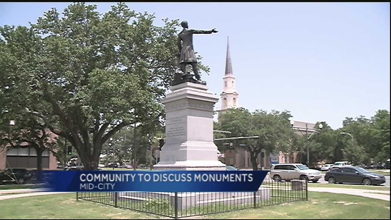 The topic of Confederate monuments and their removal will be at the center of a special forum Monday evening in Mid-City.