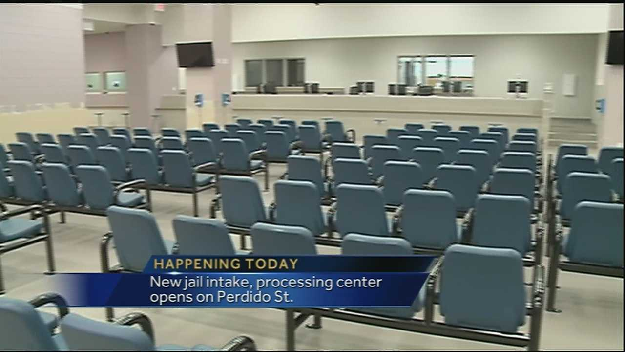 The Orleans Parish Sheriff's Office will open its new intake and processing center on Wednesday.