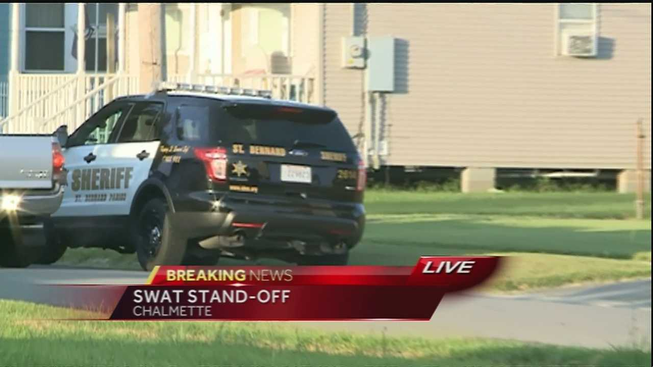 A SWAT team was called to a home Wednesday morning after a man with a gun barricaded himself inside in Chalmette.
