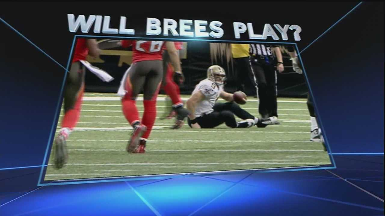 Saints quarterback Drew Brees is nursing a shoulder injury after he was sacked hard in Sunday's game against the Tampa Bay Buccaneers. On Wednesday, fans are hoping to get an update on the status of his injury and find out if he'll play on Sunday against the Carolina Panthers in Charlotte.