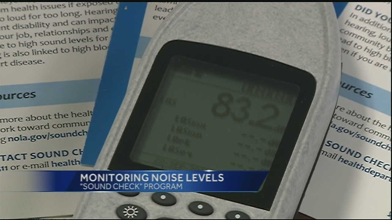 The New Orleans Health Department will measure sound levels this week in the French Quarter and Faubourg Marigny.