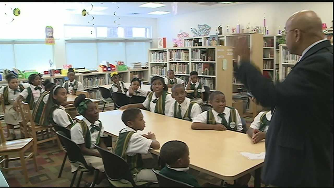 With all the buzz surrounding Pope Francis's first trip to the United States, students at St. Peter Claver Catholic School, in Treme, tell us who the pope is to them.