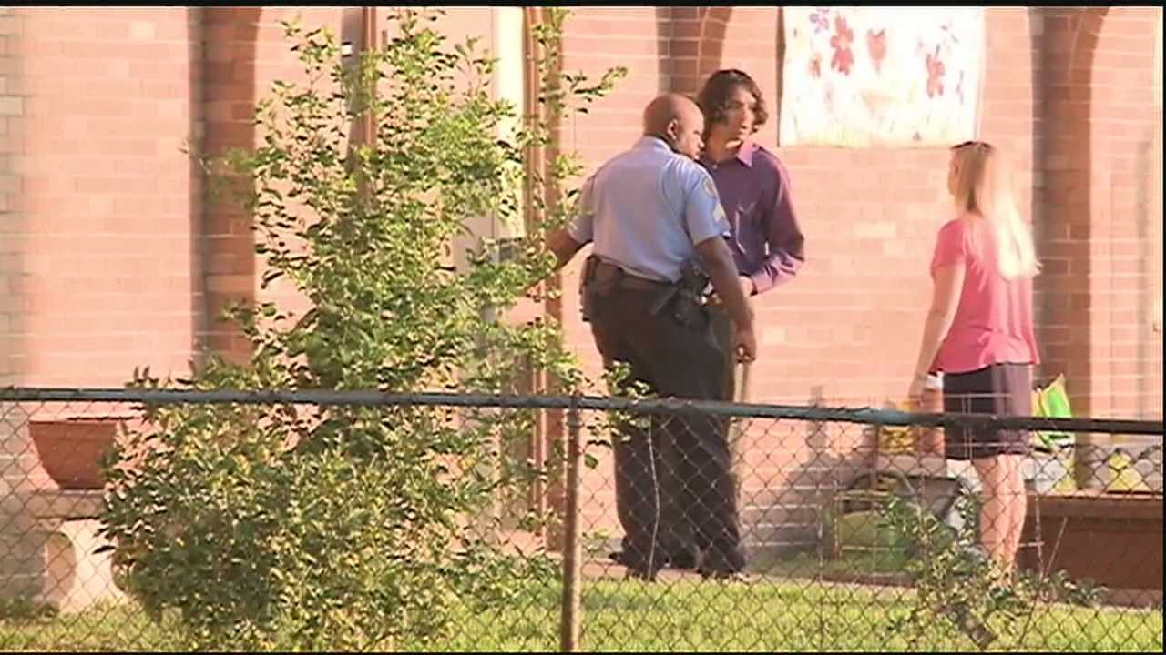 Two teachers are safe Wednesday after they were forced inside a school and robbed at gunpoint.
