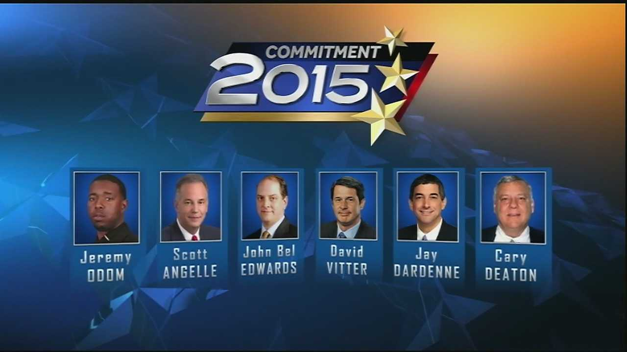 Six of the candidates vying to become the next governor of the state of Louisiana made their way to the WDSU studios Thursday for the first major televised gubernatorial debate of the campaign.