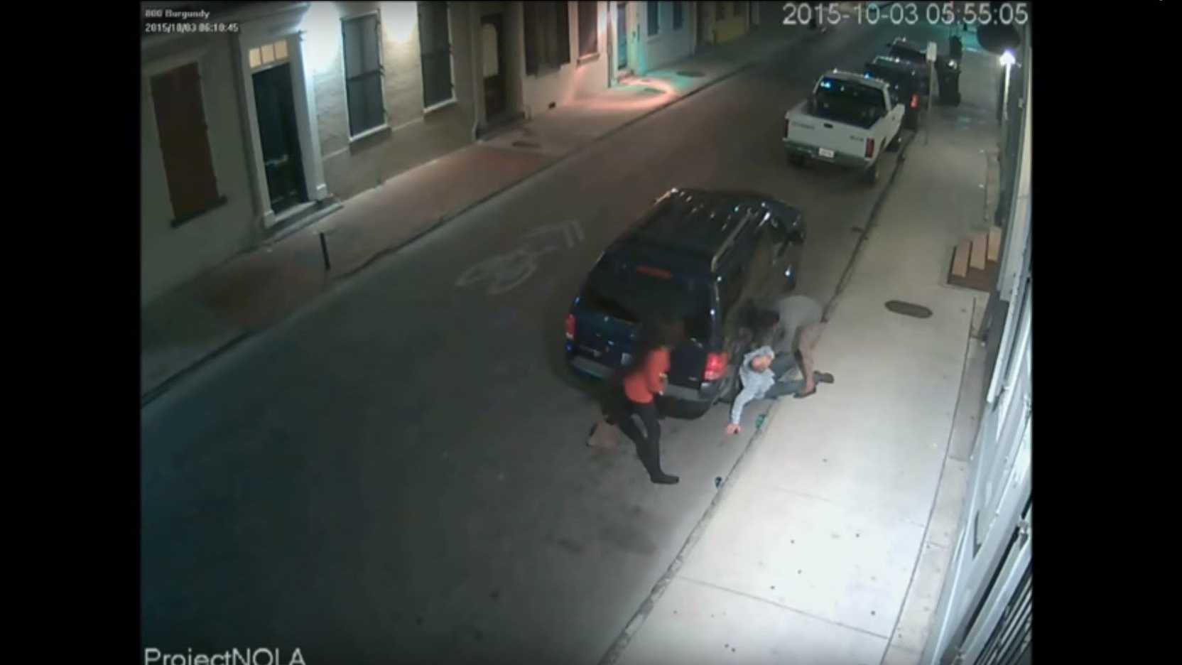 On October 3, 2015, a man was approached by two women, who knocked him to the ground and proceeded to steal his property.