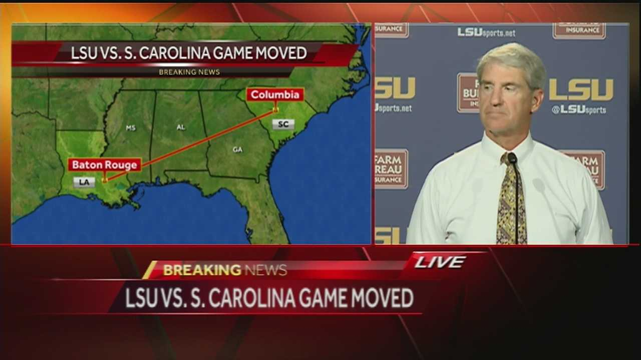 LSU spoke Wednesday afternoon on the urgent preparations to host South Carolina on Saturday.