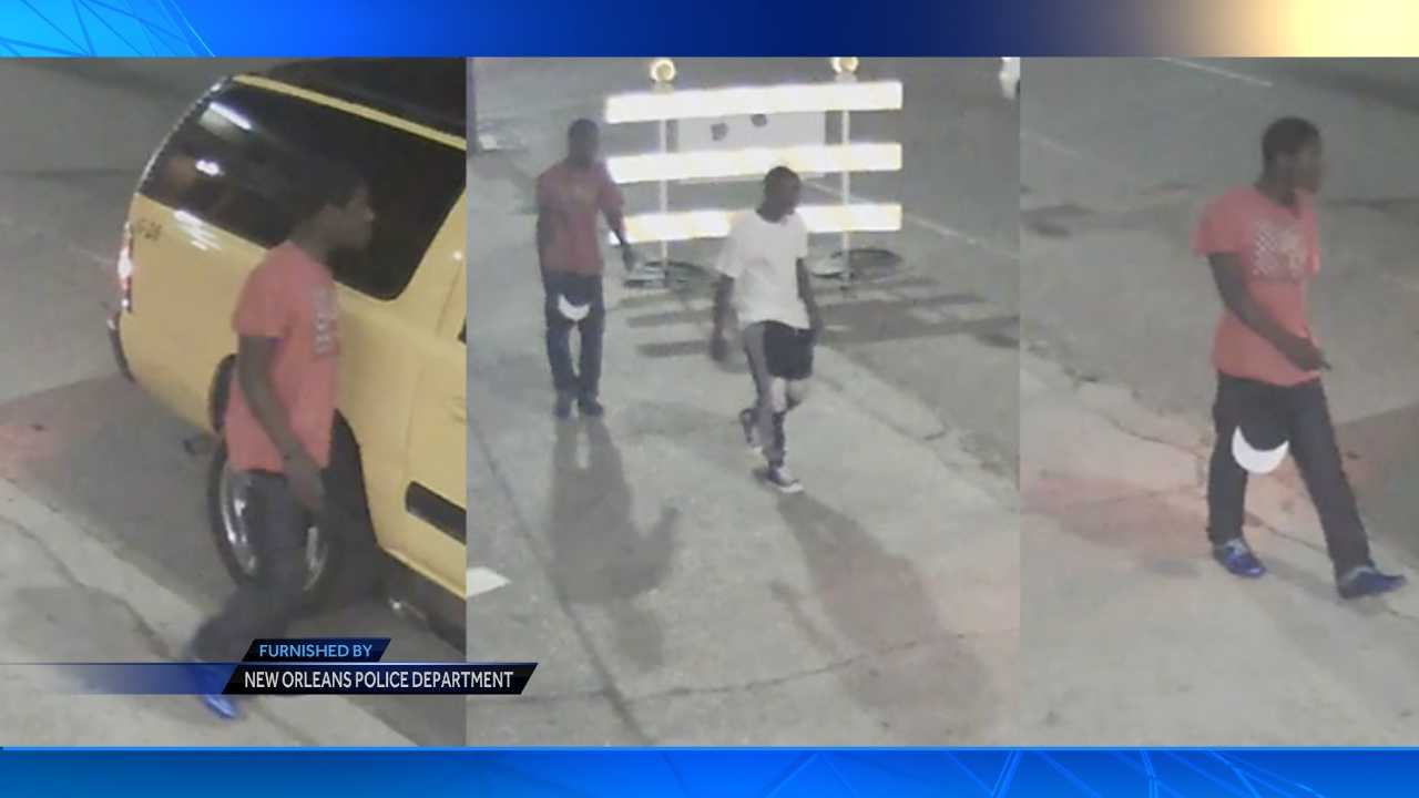 New Orleans police seek two men in connection with the robbery of a cab driver on Wednesday (October 7, 2015).