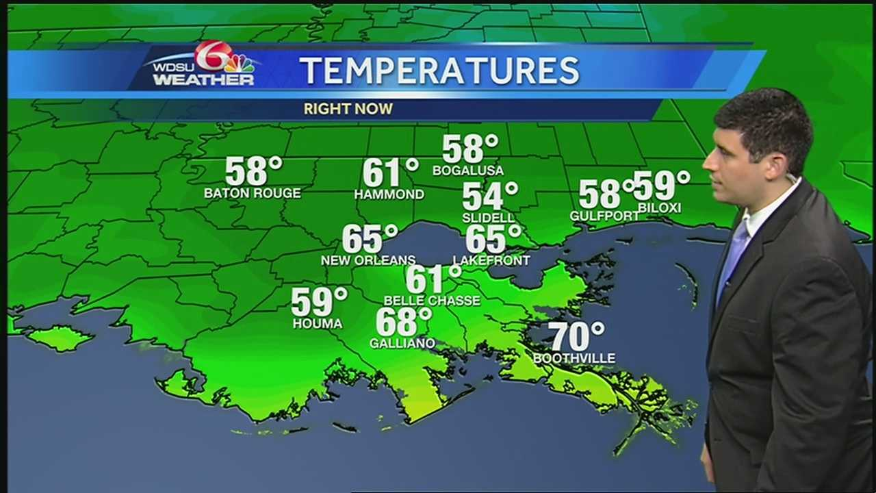 Expect plenty of sunshine today with highs in the upper 70s and low 80s this afternoon.
