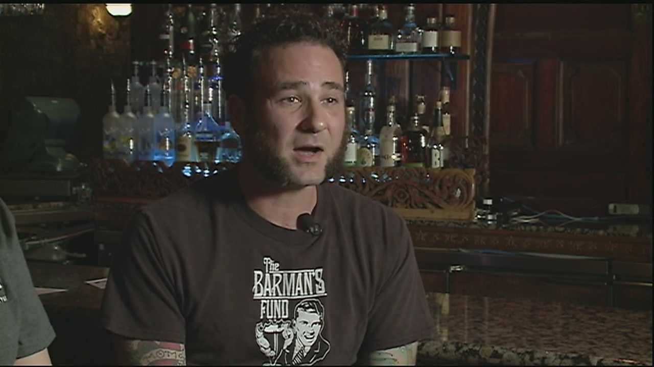 The Barman's fund collects tips from bars around New Orleans to help needy families go shopping