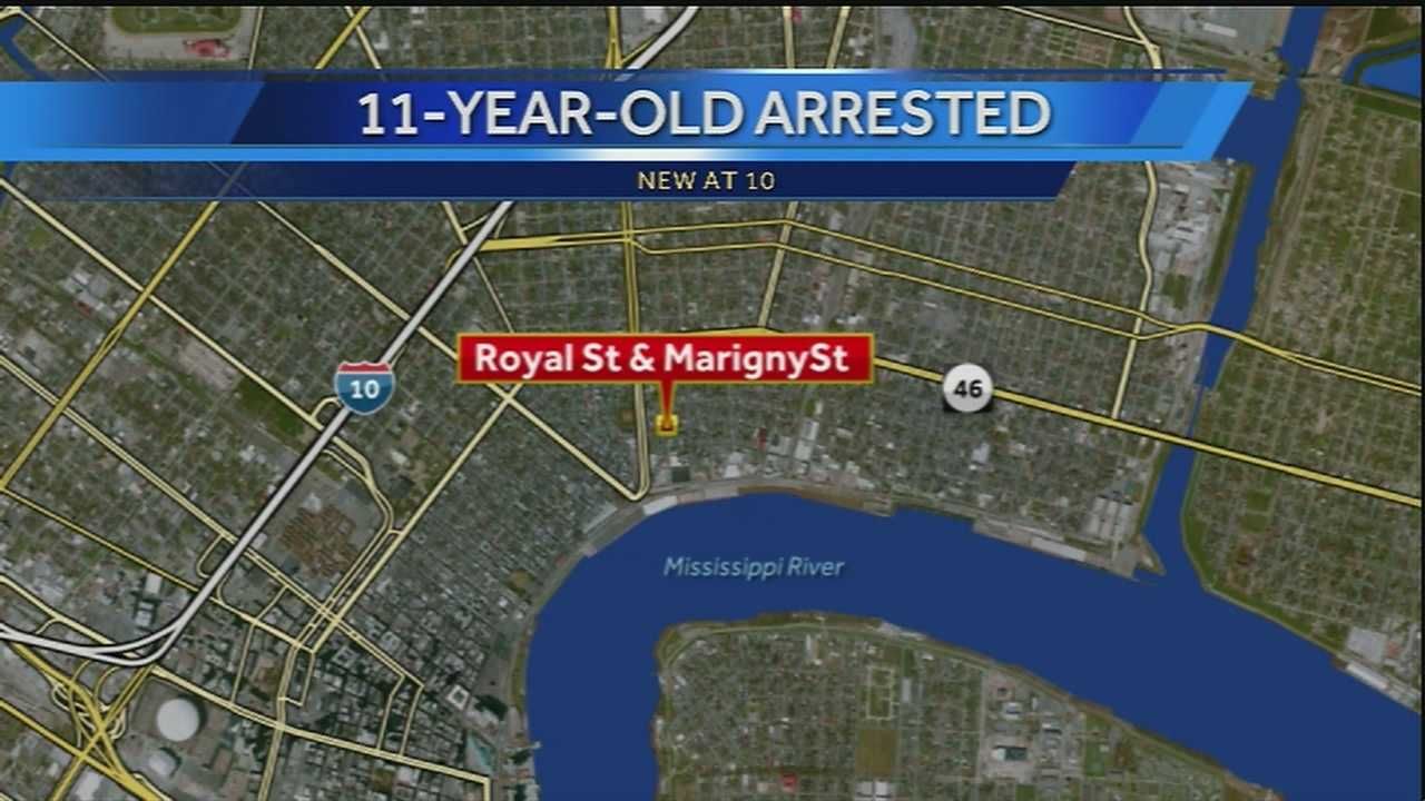 Two boys, ages 6 and 11, are accused of threatening to shoot a man in the Marigny, New Orleans police said.